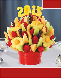 Delicious Fruit Design with Edible Number 2015